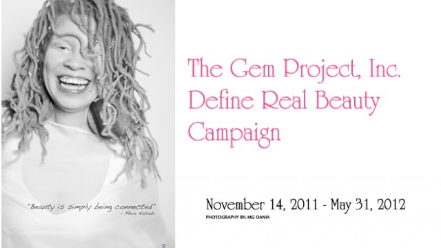 The Gem Project Define Real Beauty Campaign's Online Form is Up