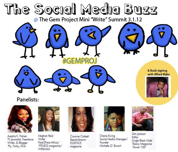 "The Social Media Buzz: @ The Gem Project Mini ""Write"" Summit"